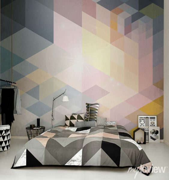 Amazing Accent Wall Ideas With Geometric Designs