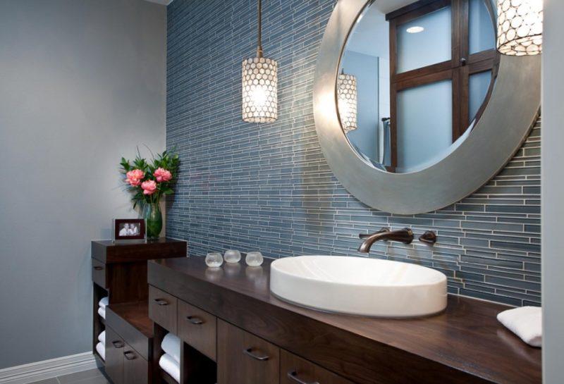 bathroom mirror trim ideas