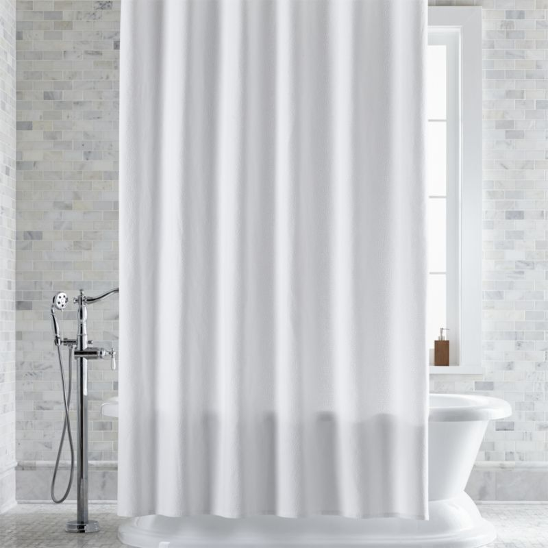 linen shower curtain ideas