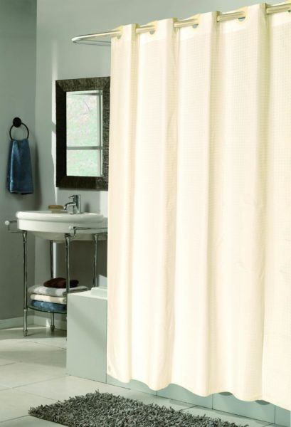burlap shower curtain ideas