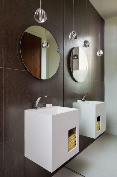 half bathroom mirror ideas