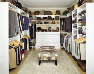 small walk through closet ideas