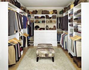 small walk through closet ideas
