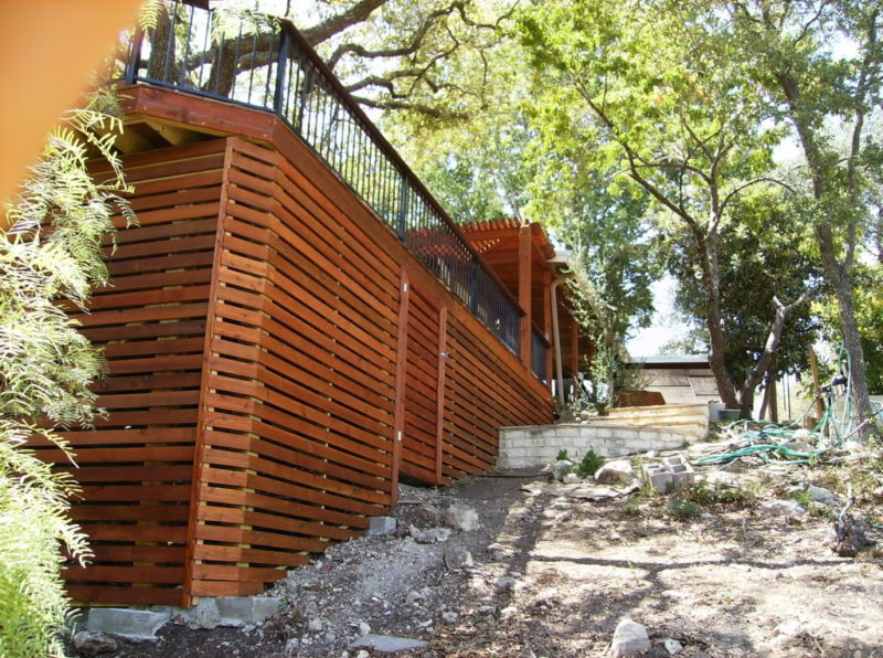 horizontal deck skirting ideas