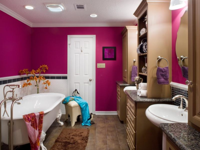 glamorously stylish kids bathroom ideas