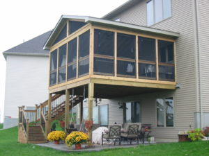 inexpensive covered deck ideas