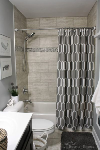 corner shower curtain ideas