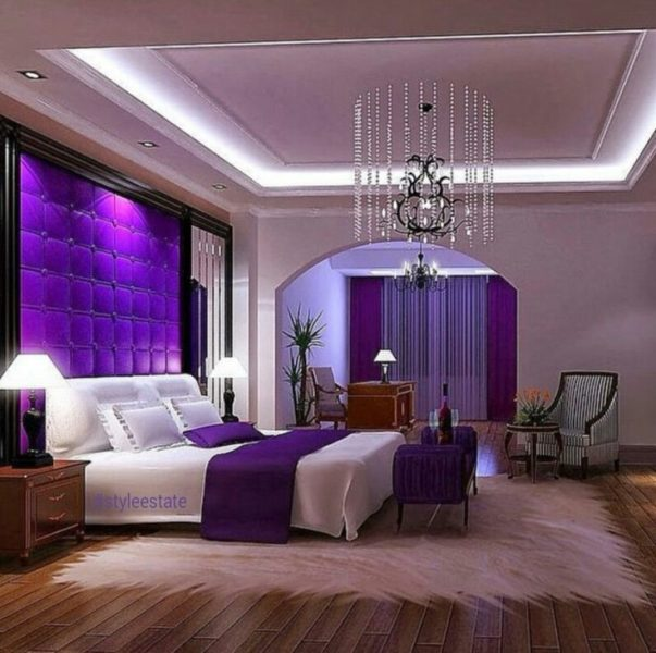 Sensational Accent Wall Surface Ideas In Purple
