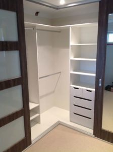 storage ideas for small walk in closet