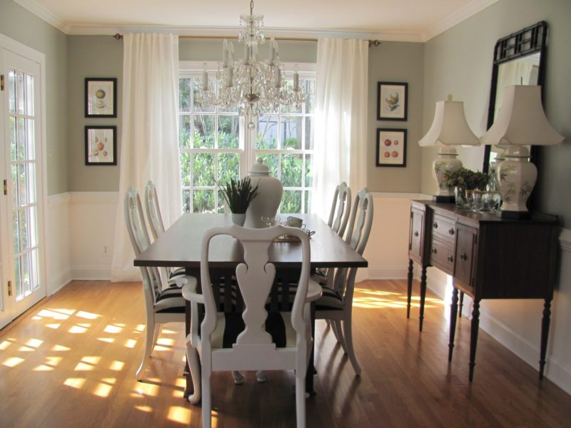 Standard Dining Room Chair Rail Height Ideas