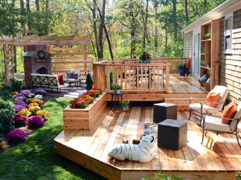 small enclosed deck ideas