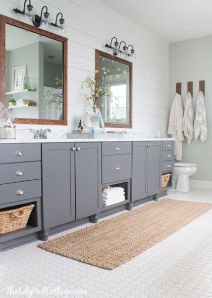 bathroom ideas with grey floor tiles