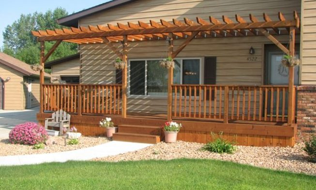 Charmant Home / 27+ Most Creative Small Deck Ideas, Making Yours Like Never Before!  / Front Deck