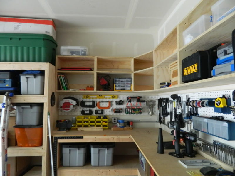 unfinished garage wall ideas