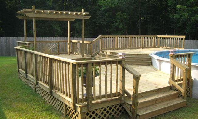 Good Home / 27+ Most Creative Small Deck Ideas, Making Yours Like Never Before!  / Pool Deck Ideas