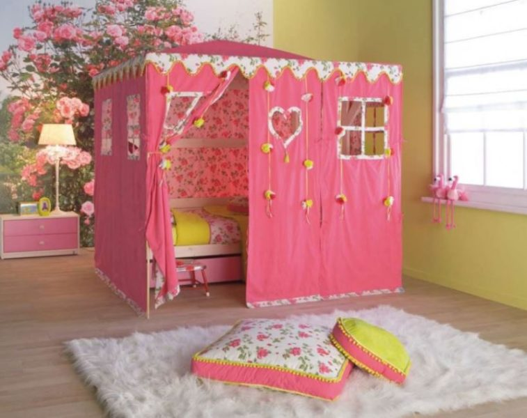 Cute Pink Hello Kitty Bedroom Design Ideas with Mirror and Headboard. 23 Most Popular Hello Kitty Bedroom Decoration that Delight and Wow