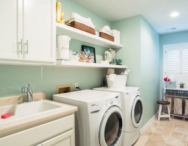 framing basement laundry room