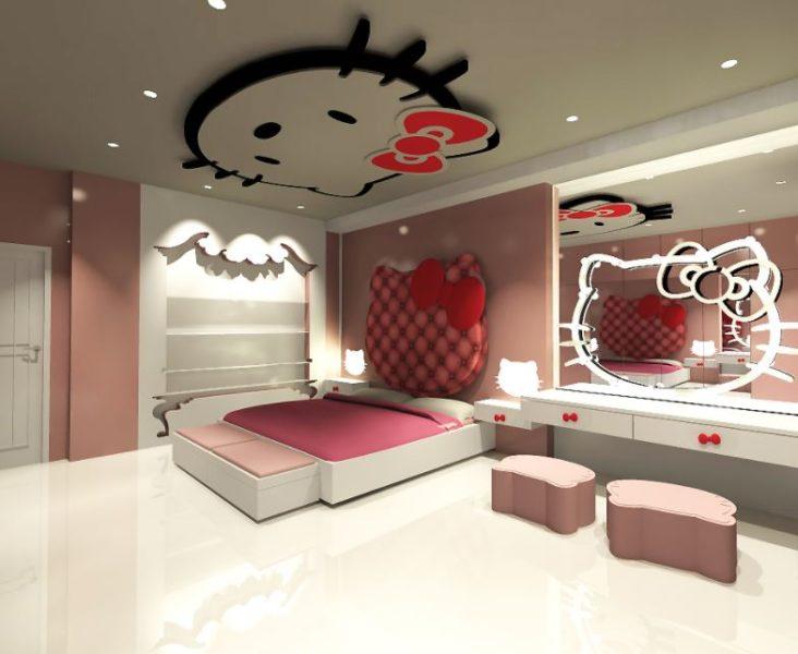 hello kitty bedroom pink