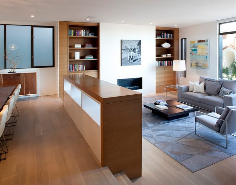 sunken living room baseboards