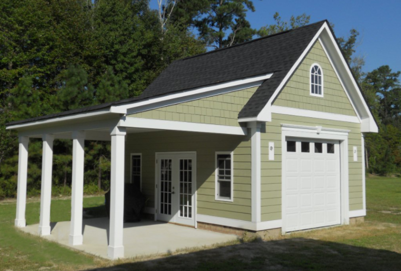 2 car detached garage floor plans
