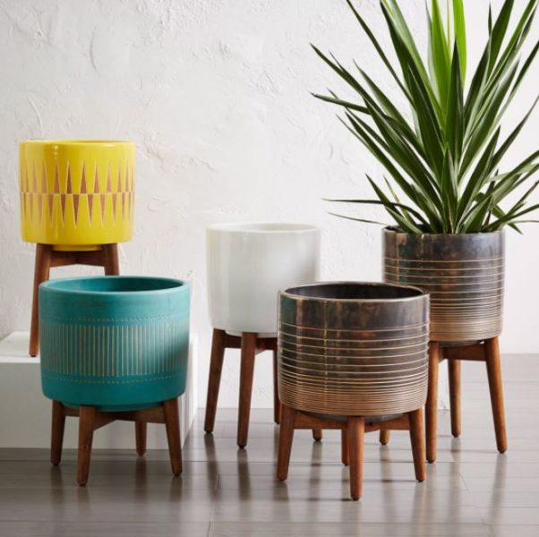 plant stands with rollers
