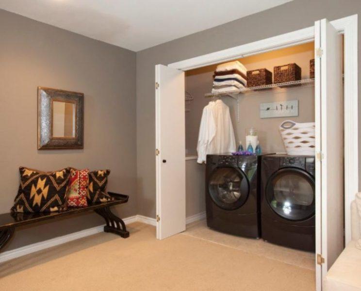 adding bathroom to basement laundry room