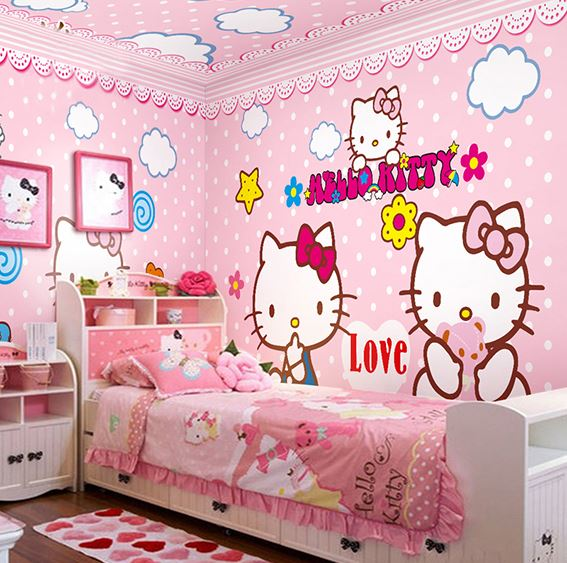 Hello Kitty Bedroom Decorating Ideas With Wall Decor Part 86