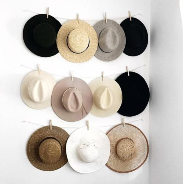 27 unique and cool hat rack ideas check it out for Ways to hang hats on wall