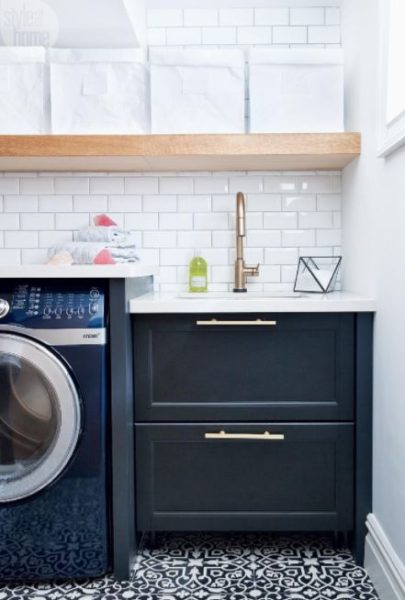 make basement laundry room decorating