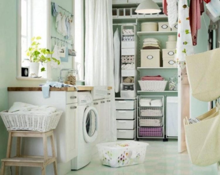 basement laundry room makeover before and after