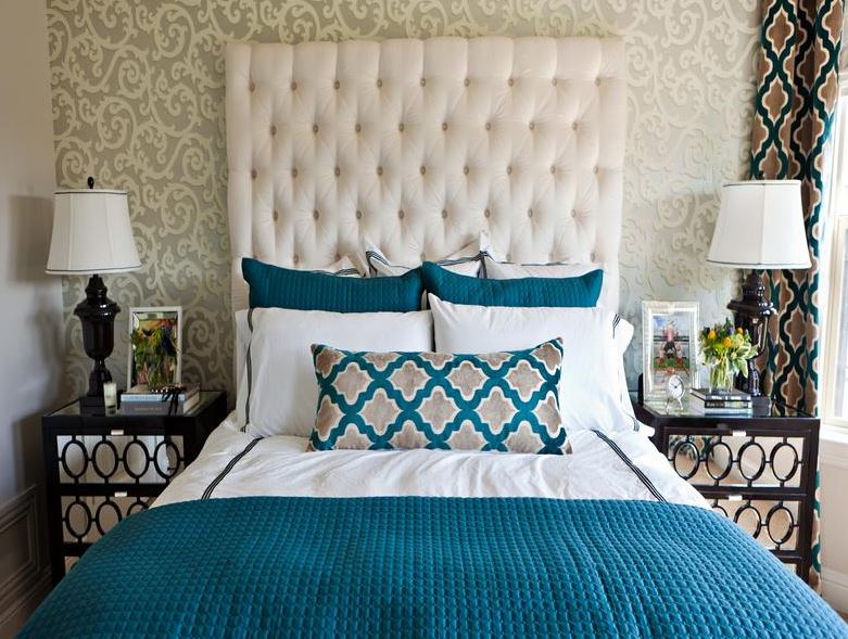 black and turquoise room decorating ideas