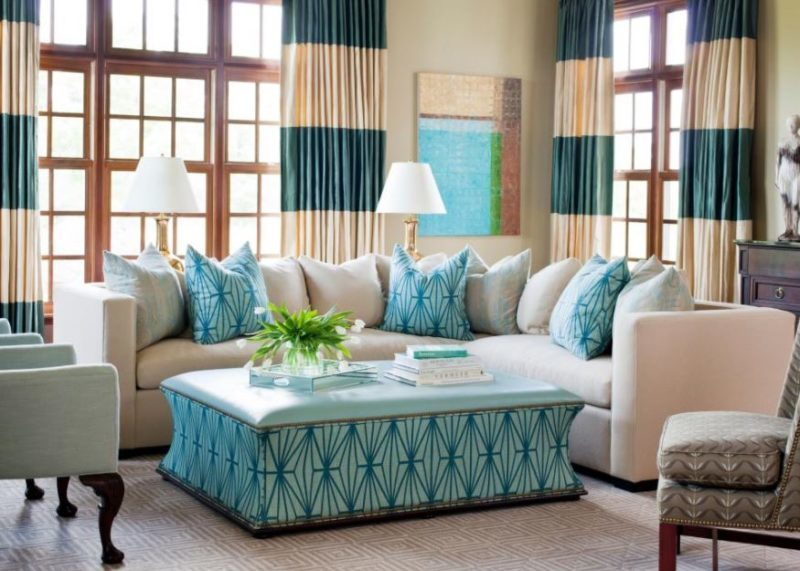 Turquoise Living Room Decorations