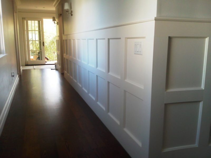 mixing wainscoting styles