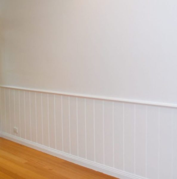 wainscoting stairwell ideas