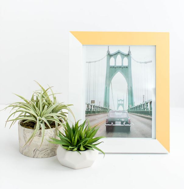 two-toned frame